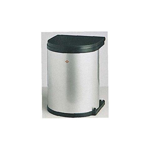 Einbau-Abfallsammler-Kcheneimer-15-Liter-rund-Silber-Optik-schwenkbar-fr-Schranktren-ab-40-cm-Schrankbreite-Unterschrnke-Mlleimer-Kche-0