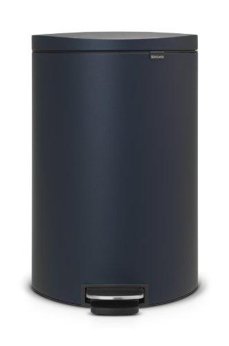 Brabantia-103889-FlatBack-und-Treteimer-40-L-mit-Kunststoffeinsatz-mineral-blau-0