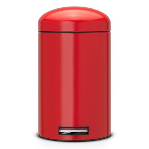 Brabantia-483783-Retro-Bin-12-L-mit-Kunststoffeinsatz-passion-rot-0