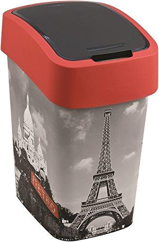 Curver-Abfallbehlter-25L-Schwingdeckel-Mlleimer-Flip-Bin-City-of-Paris-Motiv-Kche-0