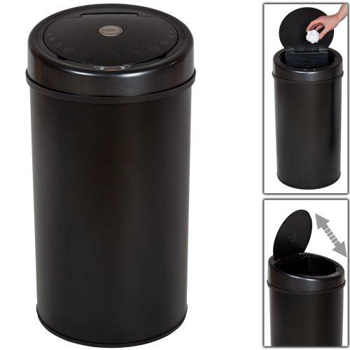 tectake luxus sensor abfalleimer m lleimer 50 liter volumen schwarz der. Black Bedroom Furniture Sets. Home Design Ideas
