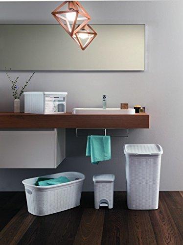 tretm lleimer im rattan design mit herausnehmbaren einsatz und 20 liter volumen im klassischen. Black Bedroom Furniture Sets. Home Design Ideas
