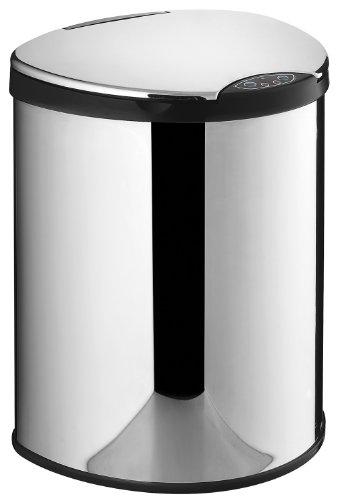 VELMA-AE009N-Vollautomatischer-Infrarot-Mlleimer-mit-Sensor-Aus-hochglanzpoliertem-Edelstahl-Mit-Inneneimer-Hochwertige-Qualitt-Das-neue-Highlight-fr-Ihr-Bad-Kche-Bro-oder-0