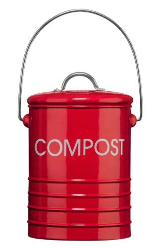 Premier-Housewares-Komposteimer-mit-Tragegriff-Rot-0