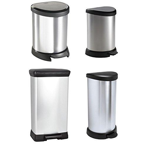 Curver-DECO-Bin-METALLICS-schwarz-silber-metallic-vers-Gren-0