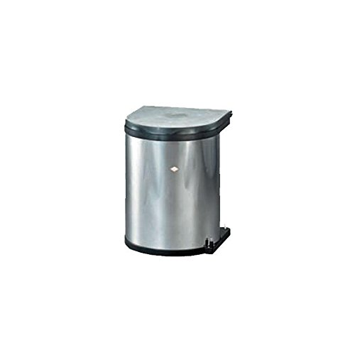 Einbau-Abfallsammler-Mlleimer-Wesco-Edelstahl-15-Liter-rund-ausschwenken-an-Drehtren-Kche-Mlleimer-0