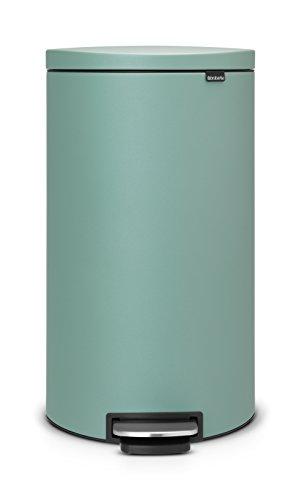 FlatBack-Treteimer-30-L-Silent-mit-Kunststoffeinsatz-Mineral-Mint-0