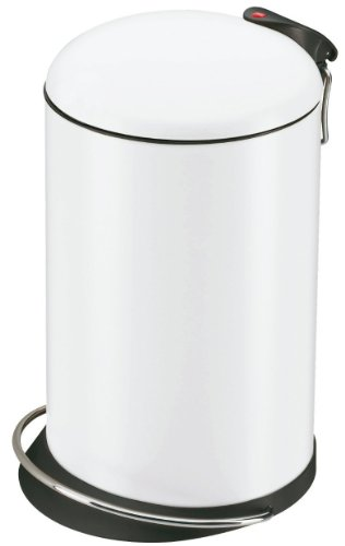 Hailo-0514-340-TOPdesign-M-Tret-Abfallsammler-13-Liter-stahlblech-weiss-0