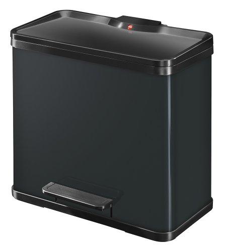 Hailo-0633-919-ko-trio-L-Tret-Abfalltrenner-3x9-Liter-stahlblech-schwarz-0
