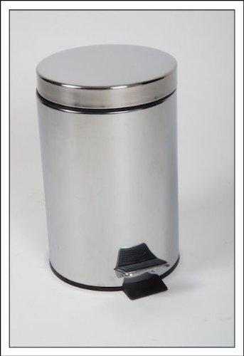 Kosmetikeimer-20-Liter-Edelstahl-mit-herausnehmbarem-Eimer-Treteimer-0