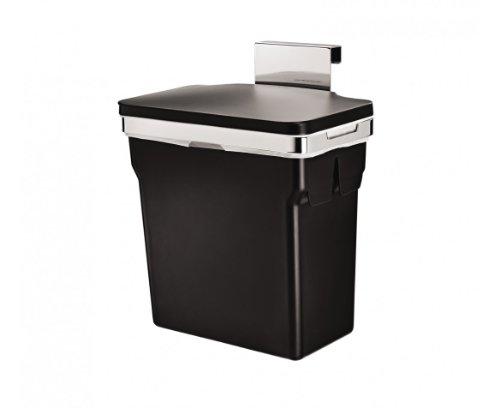 simplehuman abfalleimer f k chenschrank 10 l schwarz befestigung 30 18 5x31cm wirklichnicht. Black Bedroom Furniture Sets. Home Design Ideas