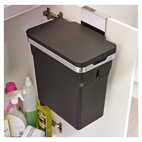 Simplehuman Abfalleimer f Küchenschrank,10 L schwarz ...