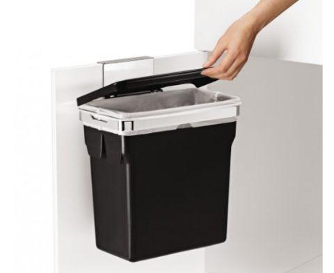 Simplehuman-Abfalleimer-f-Kchenschrank10-L-schwarz-Befestigung-30x185x31cm-0