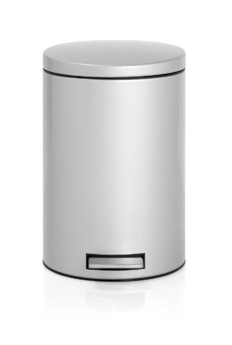 Treteimer-12-L-Silent-mit-Kunststoffeinsatz-Metallic-Grey-0