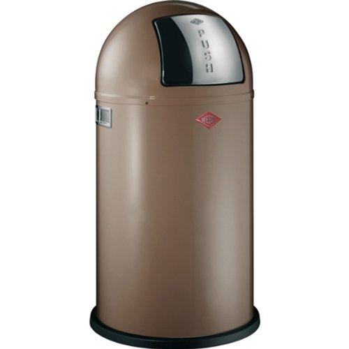 Wesco-175831-57-Mlleimer-Pushboy-40-x-40-x-75-cm-50-L-warm-grey-0