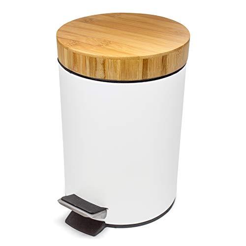 Kazai Kosmetik Eimer 3 Liter Design Treteimer Mit Echtem Bambus Holz Deckel Mulleimer Fur Bad Toilette Hotel Und Restaurant Pedaleimer Weiss Wirklichnicht De Der Mulleimer Onlineshop